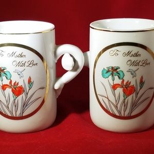 """Mothers Day is in May """"TO MOTHER WITH LOVE"""" mugs"""